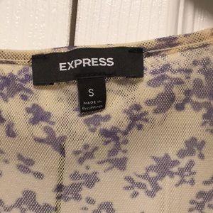 Express Tops - Sheer Ruffle floral type printed tank